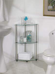 13. Convenience Concepts Designs2Go Go-Accsense 3-Tier Glass Corner Shelf