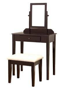 6. Frenchi Furniture Wood 3 Pc Vanity Set