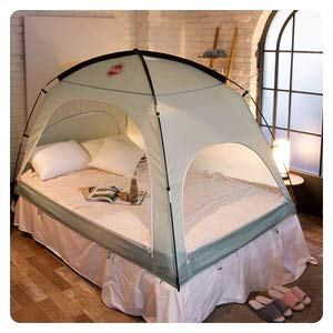 8. DDASUMI Floor-Less Indoor Privacy Bed Tent