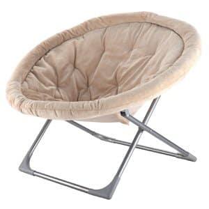 10. Giantex Oversized Large Folding Saucer Moon Chair