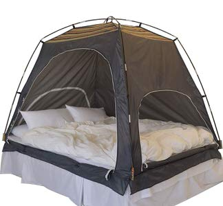 12. Daverse Floor Less Indoor Privacy Bed Tent