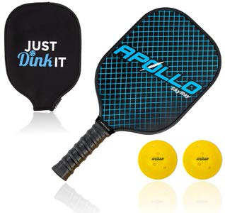 11. Apollo Lightweight Pickleball Paddle with 2 Pickleballs