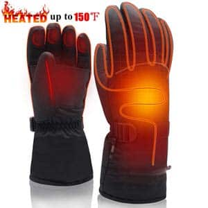 7. SVPRO Men Women Electric Rechargeable Battery Heated Gloves