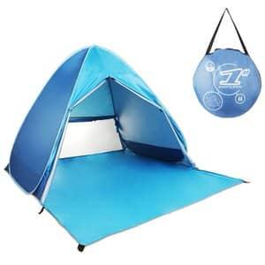 8. HIEMAO Pop Up Tent, Beach Tent Sun Shelter Instant