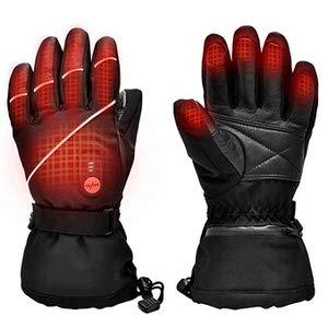 2. SNOW DEER Electric Ski Motorcycle Snow Mitten Gloves
