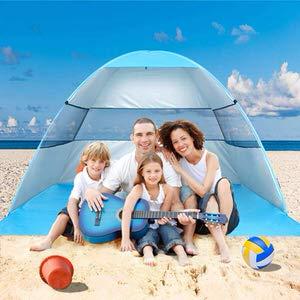7. Wilwolfer Sun Shelter Pop-Up Beach Tent w/ Carrying Bag