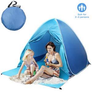 5. Felicigeely Beach Tent, UPF 50+ Portable Pop up Sun Shelter