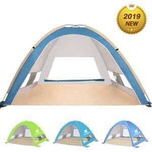11. Venustas Large Pop Up Beach Tent Automatic Sun Shelter