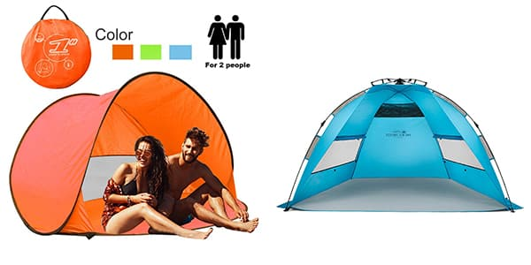 Azure Beach Tent Sun Shelter Instant Sun Shade Portable UV