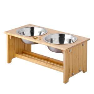 8. Bergan 88142-P Elevated Double Bowl Feeder