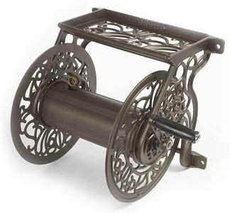 3. Liberty Garden 704 Decorative Cast Aluminum Wall Mount Garden Hose Reel