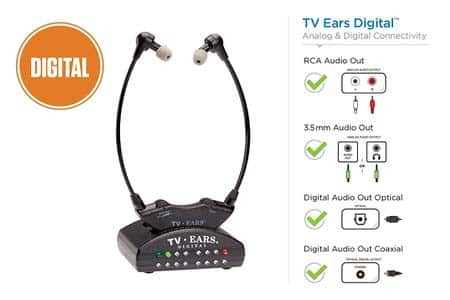5. TV Ears Digital Wireless Headset