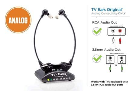 1. TV Ears Original Wireless Headsets
