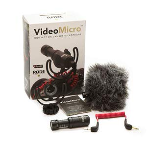 1. Rode VideoMicro Compact On-Camera Microphone with Rycote Lyre Shock Mount
