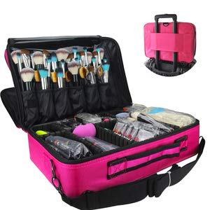 3. MONSTINA Cosmetic Organizer Makeup Case