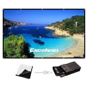 4. Excelvan 120 Inch 16:9 Portable Projector Screen High Contrast Collapsible