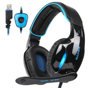 9. SADES Stereo 7.1 Channel Gaming Headset