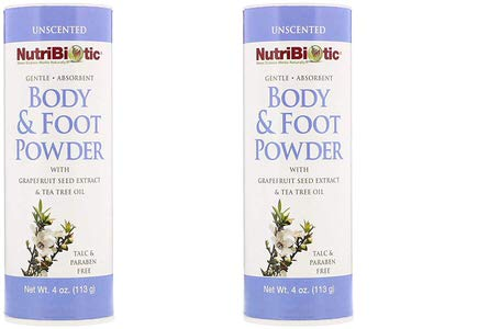 11. NutriBiotic Body & Foot Unscented Powder (Pack of 2)