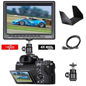 1. Neewer F100 7-inch 4k IPS Screen Camera Field Monitor