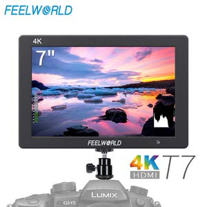 7. FEELWORLD T7 7 Inch IPS 4K HDMI Camera Field Monitor