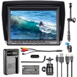 4. Neewer F100 7-inch IPS Screen Camera Field Monitor Kit
