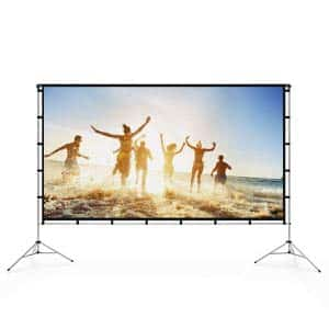 8. Vamvo outdoor indoor projector screen with stand