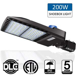 1. LED Parking Lot Shoebox Lights by LEDMO