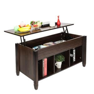 10. Bonnlo Lift Top Coffee Table with Storage Shelf w/Hidden Compartment