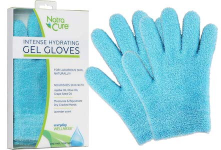 4. NatraCure Moisturizing Gel Gloves - Aqua or Lavender