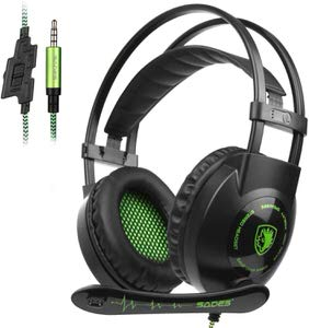 1. SADES SA801 3.5mm Over-Ear Gaming Headphone/Headset