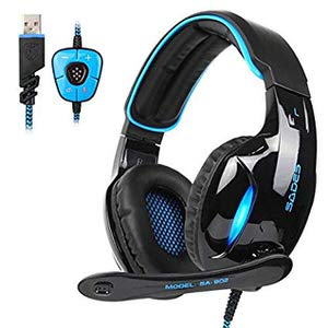 4. SADES 7.1 USB Surround Sound Gaming Headset