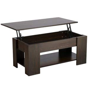 1. Yaheetech Adjustable Lift Top Coffee Table w/ Hidden Storage