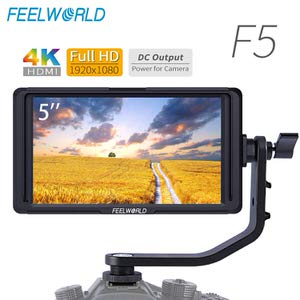 9. FEELWORLD F5 5Inch On-Camera Field DSLR Monitor