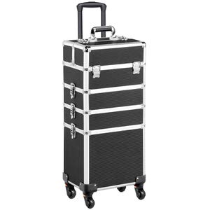 10. Yaheetech Cosmetic Makeup Case Trolley