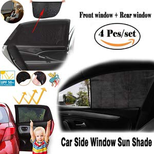 7. Owill 4 Pack Car Side Window Sun Shade
