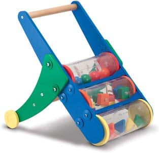 9. Melissa & Doug Rattle Rumble Wooden Push Toy and Activity Walker