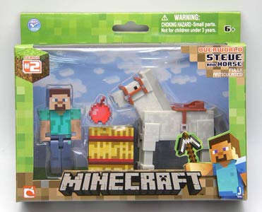5. Minecraft Steve with White Horse Figure Pack