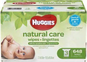4. Huggies Natural Care Baby Wipes