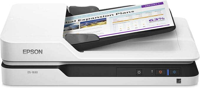 7. Epson DS-1630 Flatbed Color Scanner