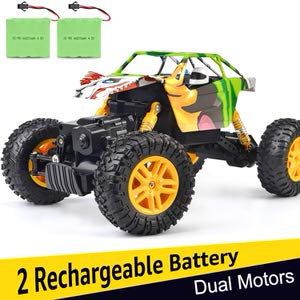 1. DOUBLE E RC Cars 1:18 Dual Motors Raw Crawler Remote Control Truck