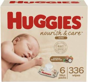 9. Huggies Nourish & Care Baby Wipes