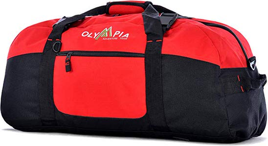 6. Olympia Sports Travel Duffel Bag Red Color
