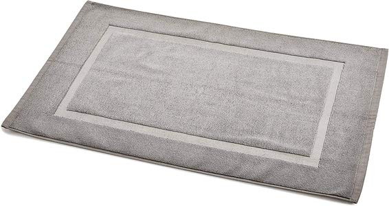 8. AmazonBasics Banded Bathroom Rug