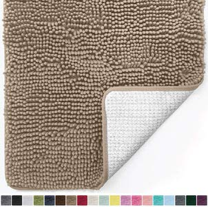 14. Gorilla Grip Original Chenille Bathroom Rug