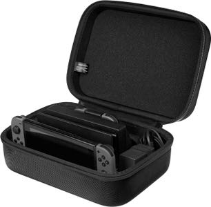 10. AmazonBasics Hard Shell Travel Nintendo Switch Case