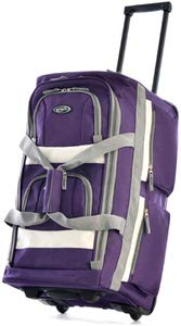 7. Olympia 22 inches Dark lavender Duffel bag