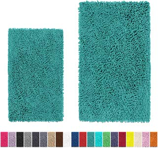 3. LuxUrux Bathroom Rug Set–Extra-Soft Plush Bathmat
