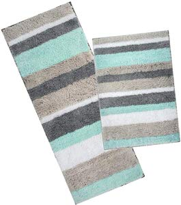 7. HEBE Non-Slippery Microfiber Bathroom Rug