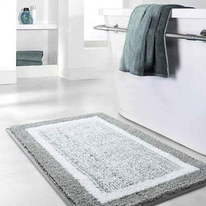 5. Bathroom Rug Mat by Color and Geometry