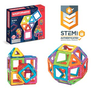 3. Magformers Basic Set (30 pieces) magnetic building blocks